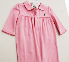 RALPH LAUREN Pink COVERALL 1 PC INFANT GIRL 9M NWT $30