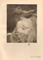 1905 Viktorianisch Studio Aufdruck ~ Pastell Lern- Von A.Besnard