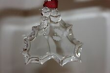 Orrefors Crystal Christmas Ornament, Holly Berry, 1990, With Box, Sweden