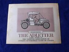 NATIONAL ASSOCIATION OF ANTIQUE AUTOMOBILE CLUBS CANADA ADLETTER NO. 1 1974