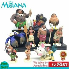 10 Pcs Moana PVC Action Figures Cake Topper Decor Figurines Kid Play Set