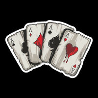 Graphics Playing Cards A Car Truck Window Laptop Helmet Decal Sticker 1pc