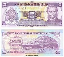 Honduras 2 lempiras 2014 P-NUEVOS BILLETES UNC
