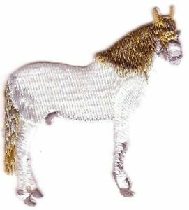 White Horse Equine Equestrian Embroidery Patch