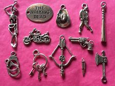 Tibetan Silver Walking Dead Themed Mixed Charms 12 per pack