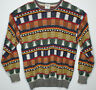Vtg 80s Marz Munchen Geometric Knit Crew Neck Pullover Ugly Cosby Sweater Size L