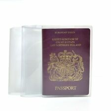 UK and European Passport Holder Protector Cover Wallet PU Clear United Kingdom