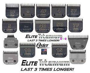 OSTER A5 ELITE TITANIUM Cryogen-X Blade*Fit A6.Andis AGC,Many Wahl,Laube Clipper