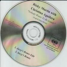 Ricky Martin Christina Aguilera Nobody Wants To Be Lonely Jazzy's Remix PROMO CD