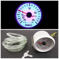 "Silver Shell Circular Car Turbo Boost Vacuum Press Gauge Meter 2""52mm For Holden"