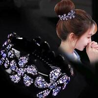 Fashion Crystal Hair Bun Maker Ponytail Holder Hair Clip for Women Donut Styling