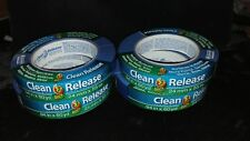 """New listing Lot of 4 Duck Tape Duck Clean Release Blue Tape .94""""x60yd New & Awesome"""