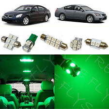 11x Green LED lights interior package kit for 2004-2008 Nissan Maxima NM2G