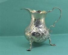 More details for antique georgian sterling silver cream jug henry chawner 1764 for repair 95 gr
