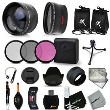 52mm Lens Accessory Kit for Nikon D3200 w/ Wide + 2X Lenses + Filter Kit + MORE