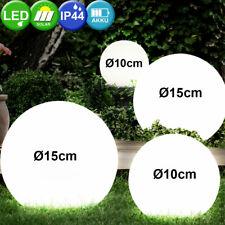4er Set LED Solar Steck Leuchten weiß Kugel Strahler Außen Hof Erdspieß Lampen