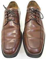 FLORSHEIM DM2 Oxfords Shoe Men's Brown Leather Lace Up Plain Toe ~ Size 9.5 D