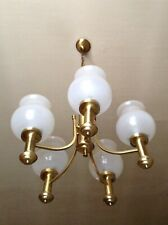 Lustre Laiton Vintage / Brass Pendant Lamp - Collection 1980