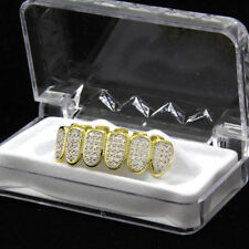 Grillz Caps Fang Bottom Grill Us Stock 14k Gold Plated Zirconia Hip Hop Teeth