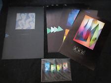 Brian Eno Michael Brook Sound Light Japan Art Exhibition Program Book w Postcard
