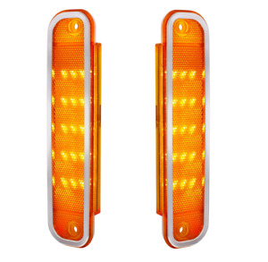 Pair Amber LED Side Markers Front Fender Lights for 1973-1980 Chevy GMC Truck