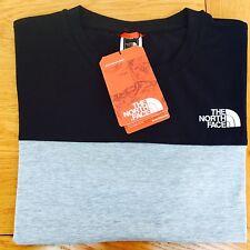 The north face colour block marl grey dark navy tshirt exploring XL XLarge Bnwt