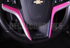 2012-2015 Camaro HOT PINK Steering Wheel Accent Decal Cover - Chevy interior