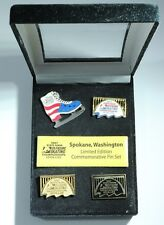2007 US Figure Skating Championships Commemorative Pin Set of 4