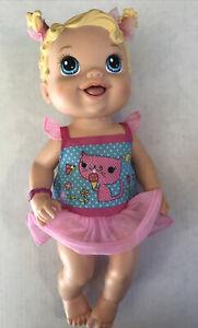 BABY ALIVE 2012 Hasbro Yummy Treats Doll Blonde Blue Eyes Missing Ice Cream
