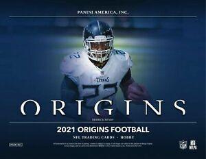 NEW YORK JETS 2021 PANINI ORIGINS FOOTBALL 1/4 CASE 4 BOX TEAM BREAK #7