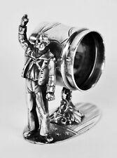 Antique Figural Napkin Holder Gilded Age Politician Stars & Stripes Silverplate