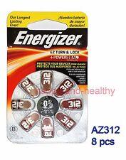 8pcs Energizer  Zinc Air  Hearing Aid Battery AZ312 (PR41) German made FREE POST