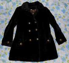 VTG 60s Plush Faux Fur Women's Peacoat Pea Coat Jacket M Boho Mod