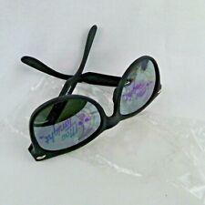 McDonald's Mac Tonight Sunglasses Black Plastic Vtg. 1988 Printed Mirror Lenses