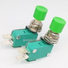 US Stock 2pcs SPDT NO NC Momentary Green Cap Push Button Micro Switch DS438