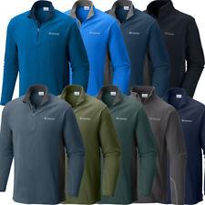 """New Mens Columbia """"Klamath Range"""" 1/2 Zip Fleece Pullover Sweaters Sweatshirt"""