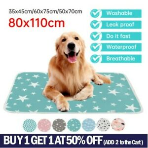 Pet Pee Pads Mats Puppy Training Pad Toilet Wee Cat Dog Supplies Washable Large!