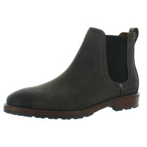 Cole Haan Mens Warner Gray Leather Chelsea Boots Shoes 8 Medium (D) BHFO 4109