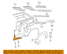 TOYOTA OEM 05-15 Tacoma Pick Up Box Bed-Lower Molding Right 7563104010