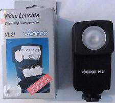Video Leuchte VL 21 Videoleuchte VL 21 für Sony,Panasonic,JVC + Hitachi 20 W neu