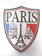 Paris Magnet Reise Souvenir France,Eiffelturm,Notre Dame,Sacre Coeur Wappen