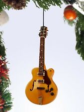 """Miniature 5"""" Hollow Body Electric Guitar Hanging Tree Ornament OGB12BR"""