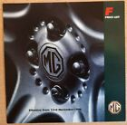 November 1996 MG F car sales brochure price list UK MGF vintage catalogue   5301