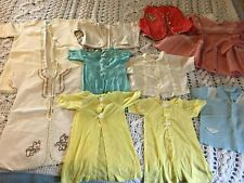 Vintage Baby Lot; Mid To Late 1950'S; Sacks, Tops, Dress,1 Embroidered