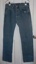 Levis 501 Blue Jeans 31x34 Button Fly 100% Cotton Made In Mexico