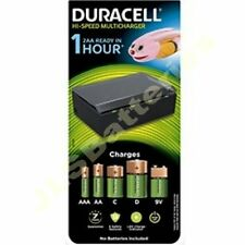 DURACELL rapide 1 heure chargeur batterie universel pour aa aaa c d & 9v