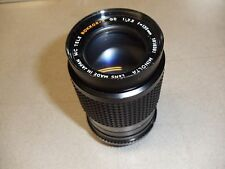 MINOLTA Lens MC Tele ROKKOR-X QD 1:3.5 f=135mm w/ rear cap, made in JAPAN