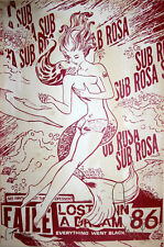 FAILE Sub Rosa Shimmering Red edition of 18 print poster girl kissing mermaid