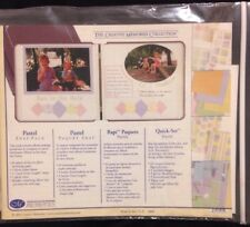 NEW Creative Memories Pastel Scrapbooking Snap Pack Sentiments ALBUM Kit