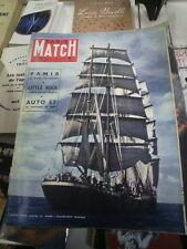 Paris Match n°443 5 oct 1957 salon automobile  pamir little rock paras algérie
